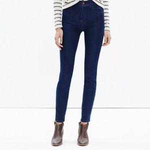"Madewell 10"" high-rise skinny jeans lydia wash"